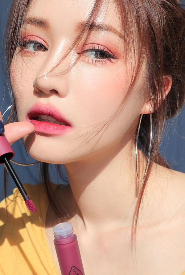 3CE Soft Lip Lacquer màu Midnight Bottle (tím hồng)