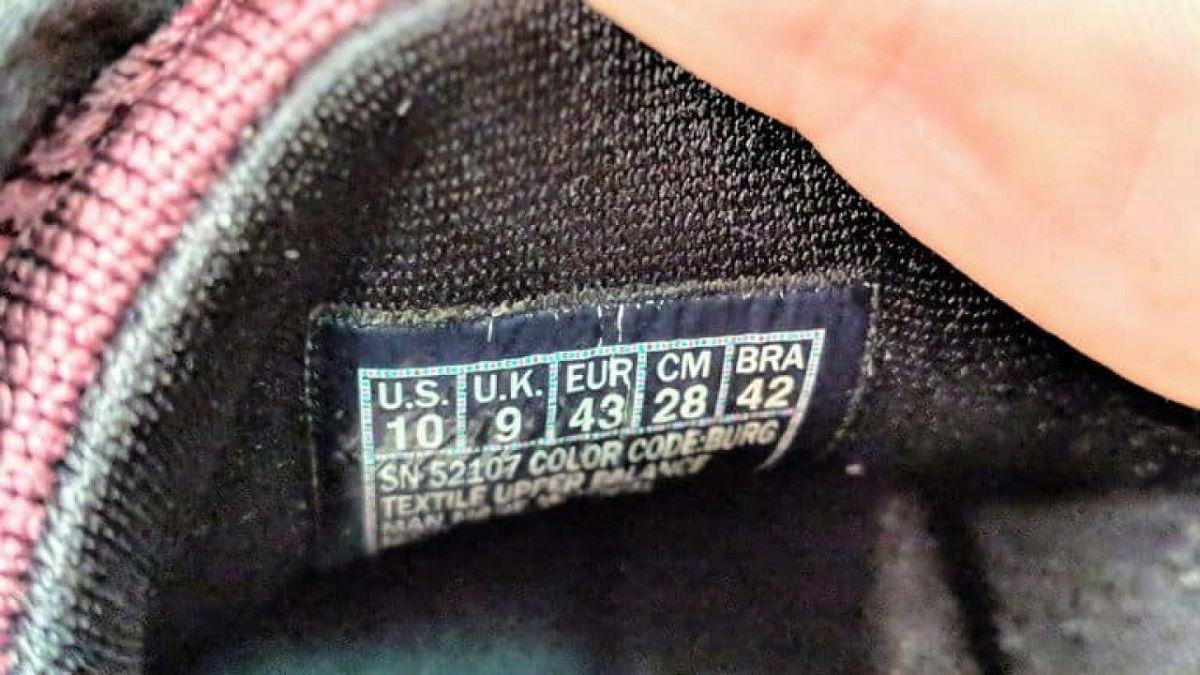 Bảng size giày Adidas, Nike...