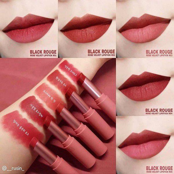 Black Rouge Rose Velvet Lipstick