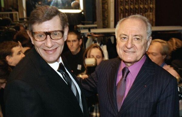 Hai nhà thiết kế lừng danh Yves Saint Laurent và Pierre Bergé
