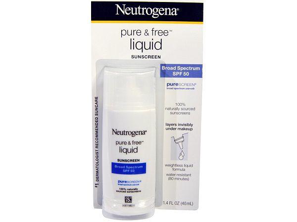 Kem chống nắng vật lý Neutrogena Pure & Free Liquid Sunscreen SPF 50