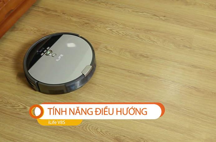 Tính năng điều hướng của robot Ilife V8S