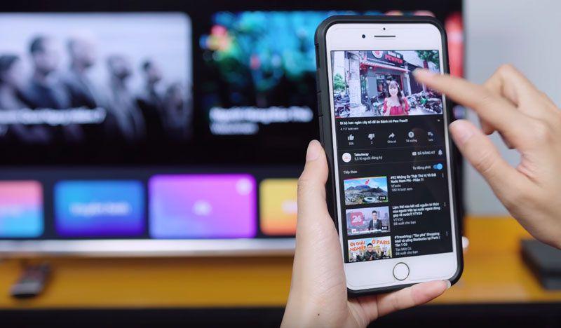 Tính năng ChromeCast chia sẻ nội dung từ điện thoại lên Tivi