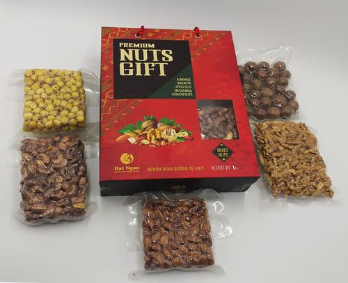 Hộp quà tết các loại hạt dinh dưỡng
