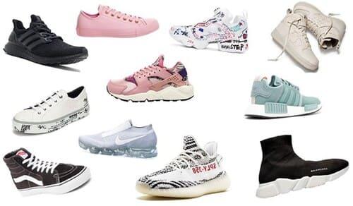 Top 10 các hãng giày sneaker nổi tiếng