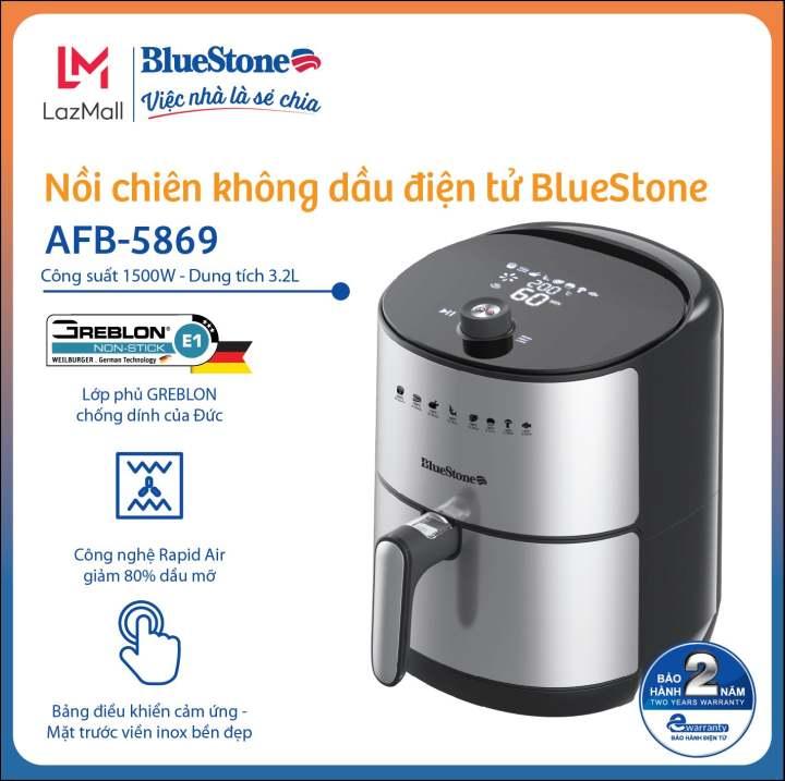 Nồi chiên không dầu điện tử BlueStone AFB-5869 (3.2L)