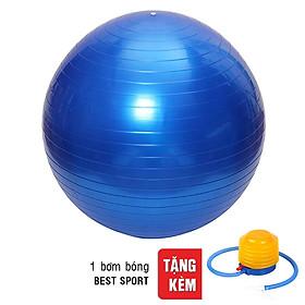 Bóng Tập Yoga Trơn Best Sport DK075XANH (75cm)