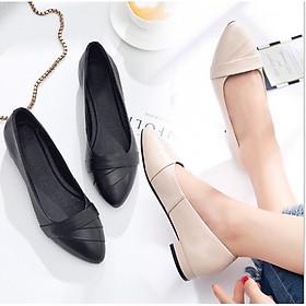 Giày bệt búp bê nữ xếp li xinh xắn hàng VNXK siêu bền M3