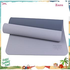 Thảm Tập Yoga TPE 2 Lớp ZERA-6MM-2L-XAM
