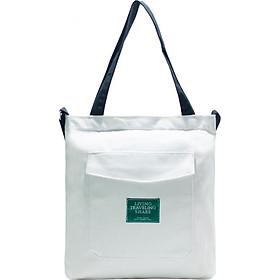 Túi Vải Đeo Chéo Tote Bag Living Nắp Nhọn